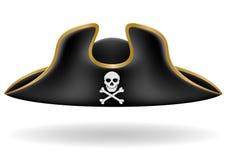 Ilustração tricorn do vetor do chapéu do pirata ilustração royalty free