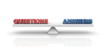 Equilíbrio das respostas das perguntas ilustração do vetor