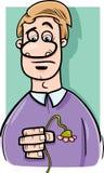 Ilustração triste dos desenhos animados do homem Imagem de Stock