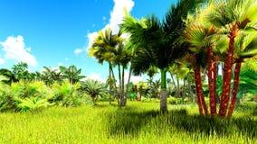 Ilustração tropical da selva 3d Fotos de Stock