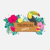 Ilustração tropical do vetor do partido Fotografia de Stock