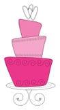 Ilustração turvy topsy cor-de-rosa do bolo imagem de stock