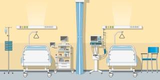 Ilustração um a unidade de cuidados intensivos Imagem de Stock