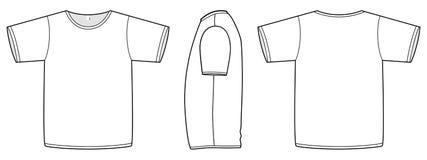 Ilustração unisex básica do molde do t-shirt. Imagem de Stock Royalty Free