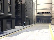 Ilustração urbana da rua