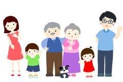 Ilustração vívida do projeto de caráter da família ilustração stock