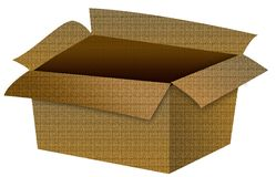 Ilustração vazia da caixa de cartão Imagens de Stock