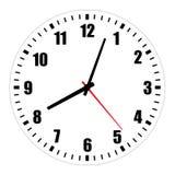 Ilustração vazia da face do relógio no branco imagem de stock