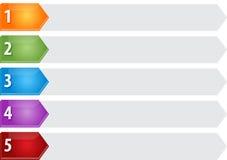 Ilustração vazia do diagrama do negócio da lista cinco aguçado Fotografia de Stock