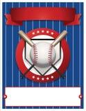 Ilustração vazia do molde do inseto do basebol ilustração stock