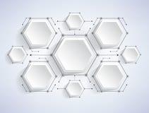 Ilustração vazia do vetor dos elementos de Infographic Foto de Stock