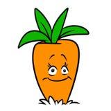Ilustração vegetal dos desenhos animados do caráter alegre da cenoura ilustração stock