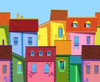 Ilustração velha da cidade Imagens de Stock Royalty Free