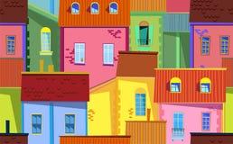 Ilustração velha da cidade Fotos de Stock
