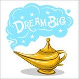 Ilustração velha da lâmpada de óleo ilustração royalty free