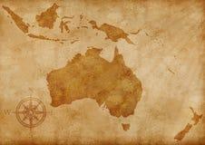 Ilustração velha do mapa de Austrália Imagens de Stock Royalty Free