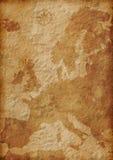 Ilustração velha do mapa de Europa ilustração stock