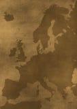 Ilustração velha do mapa de Europa do grunge Foto de Stock