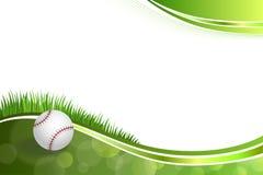 Ilustração verde abstrata da bola do basebol do fundo Fotografia de Stock