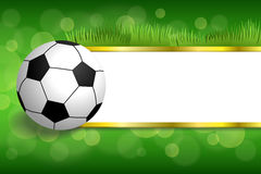 Ilustração verde abstrata da bola do esporte do futebol do futebol do fundo Fotografia de Stock