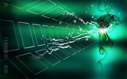 Ilustração verde abstrata do espaço fotos de stock royalty free