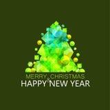 Ilustração verde abstrata do pinho Fotografia de Stock Royalty Free