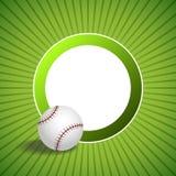Ilustração verde abstrata do quadro do círculo da bola do basebol do fundo Fotografia de Stock