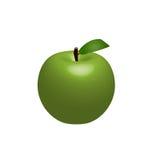 Ilustração verde de Apple Fotografia de Stock