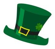 Ilustração verde do chapéu do duende do dia do ` s de St Patrick do irlandês com c Fotos de Stock Royalty Free