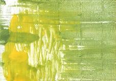 Ilustração verde do desenho de lavagem colorida do amarelo ilustração do vetor