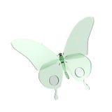 Ilustração verde do vidro da borboleta ilustração royalty free