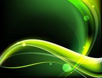 Ilustração verde e amarela das ondas imagens de stock royalty free