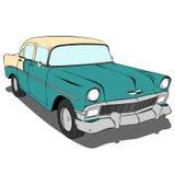 Ilustração verde velha do vetor do carro Fotos de Stock Royalty Free