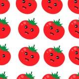 Ilustração vermelha bonito do vetor do fundo do tomate do teste padrão sem emenda ilustração do vetor