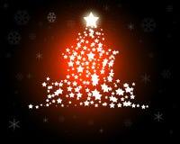 Ilustração vermelha da árvore de Natal Fotografia de Stock