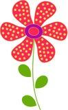 Ilustração vermelha da flor Fotografia de Stock