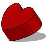 Ilustração vermelha do coração 3D Fotografia de Stock Royalty Free