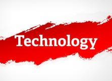 Ilustração vermelha do fundo do sumário da escova da tecnologia ilustração royalty free