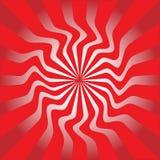 Ilustração vermelha do vetor do sunburst Foto de Stock