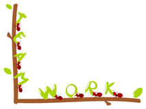 Ilustração vermelha dos trabalhos de equipa do texto das formigas Imagem de Stock Royalty Free
