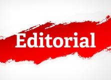 Ilustração vermelha editorial do fundo do sumário da escova ilustração royalty free