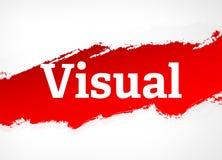 Ilustração vermelha visual do fundo do sumário da escova ilustração stock