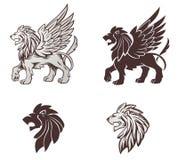 Ilustração voada do leão Fotos de Stock
