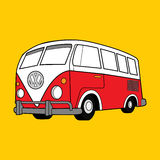 Ilustração Volkswagen clássico Van do vetor Imagem de Stock