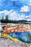Ilustração Yellowstone Ilustração Royalty Free