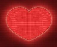 Ilustrações abstratas do coração fotografia de stock royalty free