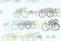 Ilustrações abstratas do esboço da bicicleta, conceptual Detalhes, decoração, papel de parede & Web ilustração stock