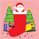 Ilustrações bonitos do Natal ilustração stock