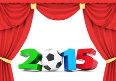 Ilustrações 3d do ano novo feliz 2015 Fotografia de Stock