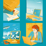 Ilustrações da agência de viagens Foto de Stock Royalty Free